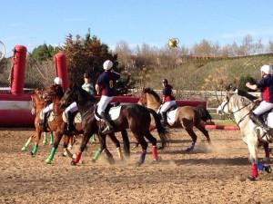 Accion de juego horseball partido liga de Madrid (1)